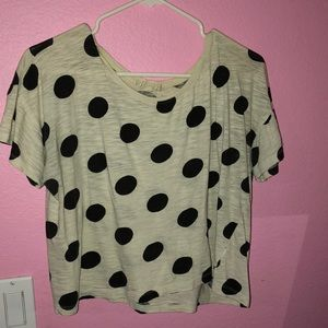 crop top with polka dots